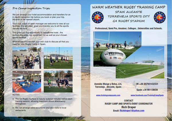 Training camp spain rugby packages publicscrutiny Image collections
